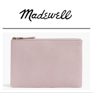 *NEW W/ TAG* Madewell Leather Clutch Wisteria Dove